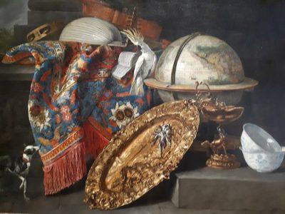 Pieter Boel Stilleven met globe en kaketoe Foto -Krina van der Drift