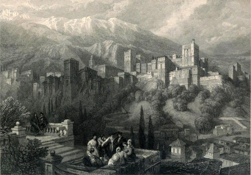 cc commons.wikimedia.org La Alhambra by David Roberts.