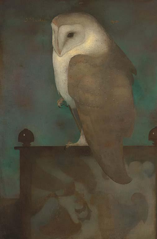 Jan Mankes Grote uil op scherm (1913) Collectie Museum MORE