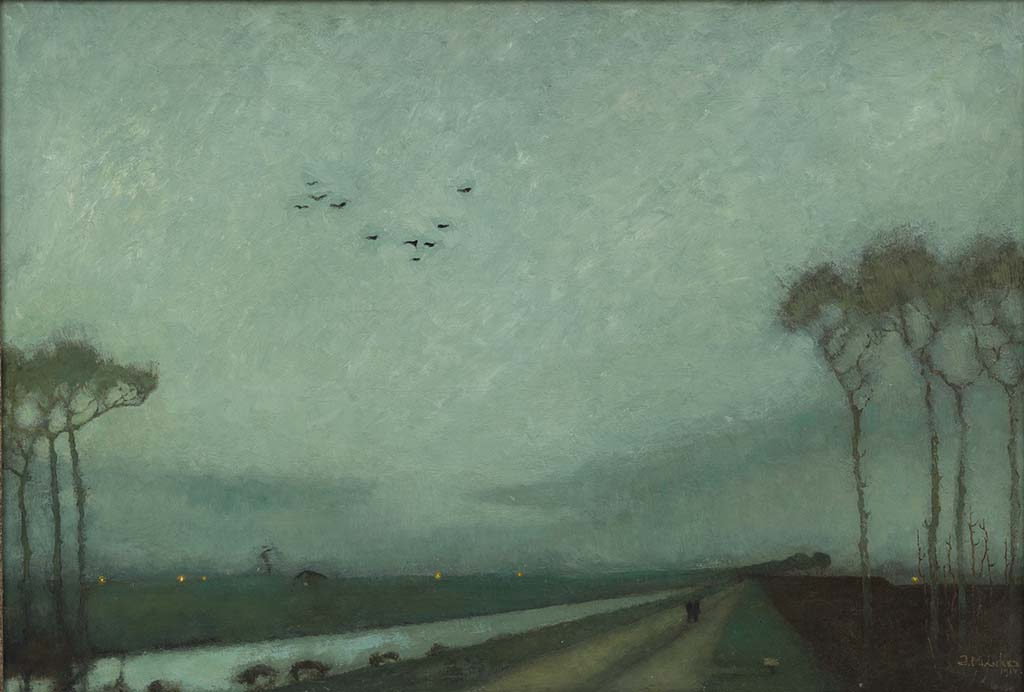 Jan Mankes Avondschemering Woudsterweg (1914) Collectie Museum MORE