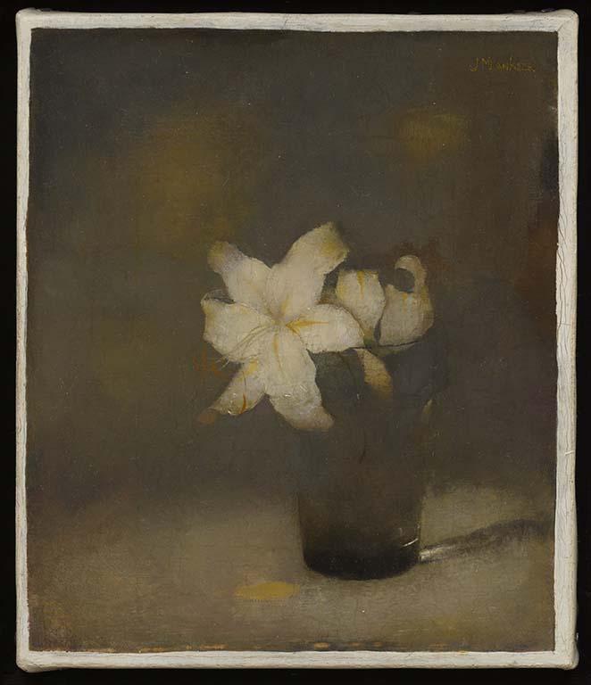Kijk Jan Mankes Glas met lelies (1910) Collectie Museum MORE bijdrage Han Boersma