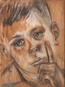Bep Rietveld Fons Seijer 11 jaar (geportretteerd_ een dag voor zijn transport naar het mannenkamp) 1944
