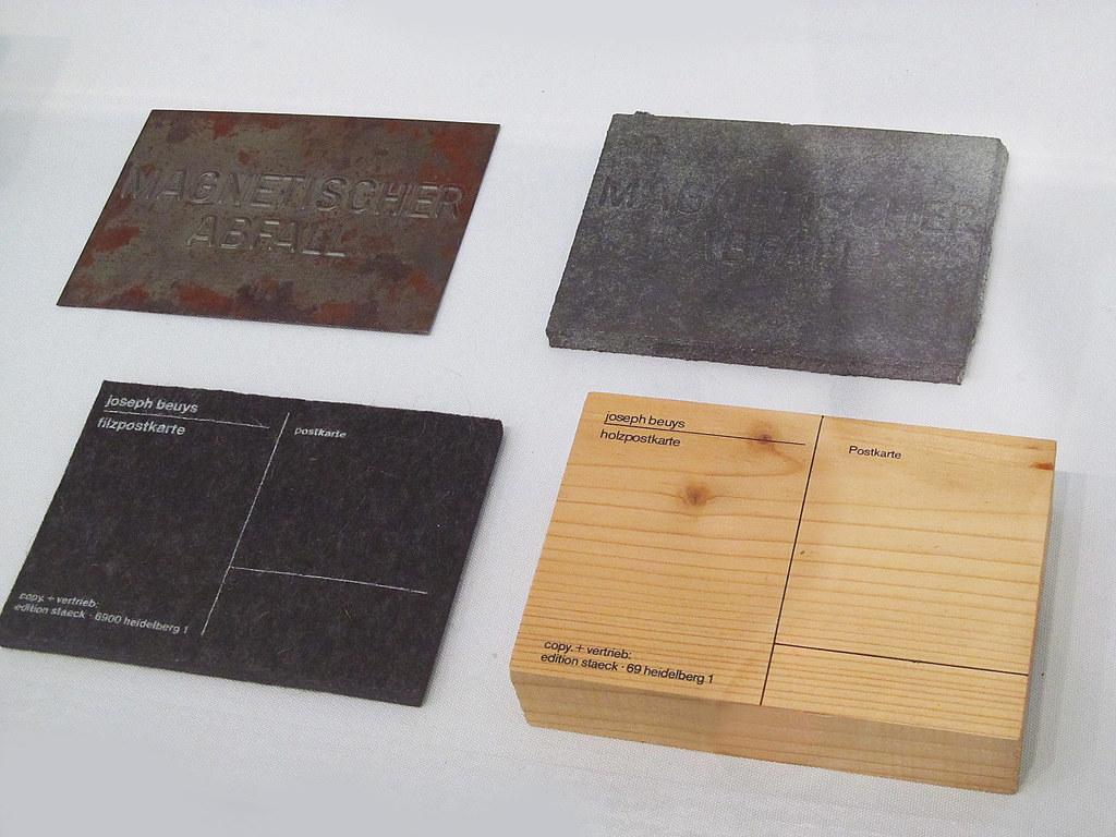 cc Flickr rocor photostream Joseph Beuys Magnetische Postkarte, 1975