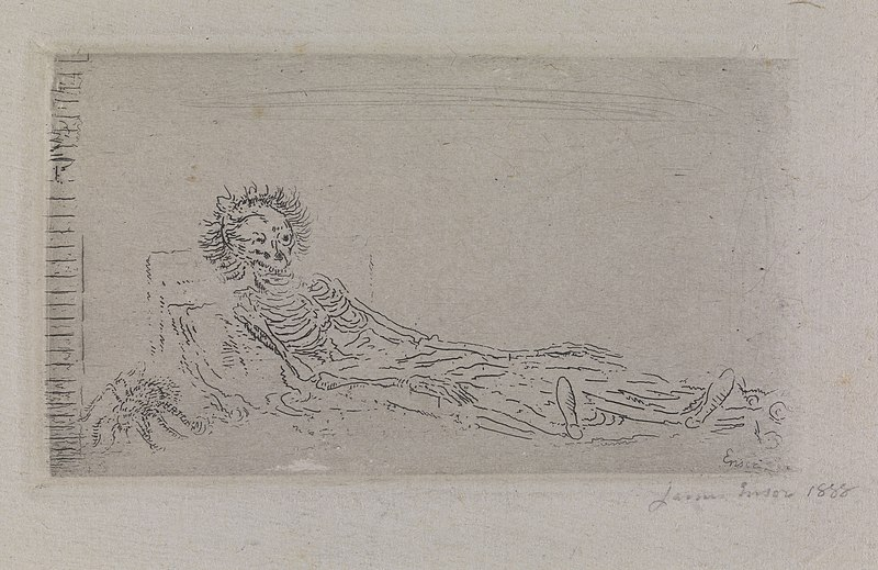cc commons.wikimedia.org Mijn portret in 1960 James Ensor 1888, Museum voor Schone Kunsten Gent, 1998