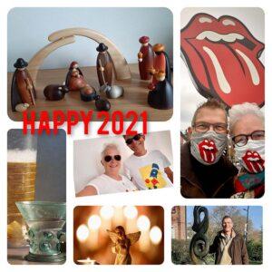 Kunst op zondag - collage happy 21
