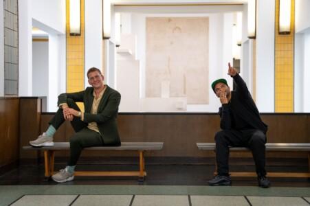 musea online podcast rappers Stevel van Lummel en Sef © foto Kunstmuseum Den Haag