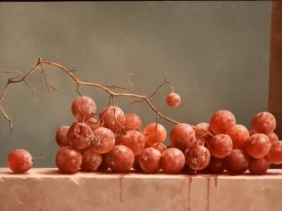 Marius van Dokkum museum, stilleven met oude druiven, © 2016 foto Krina van der Drift