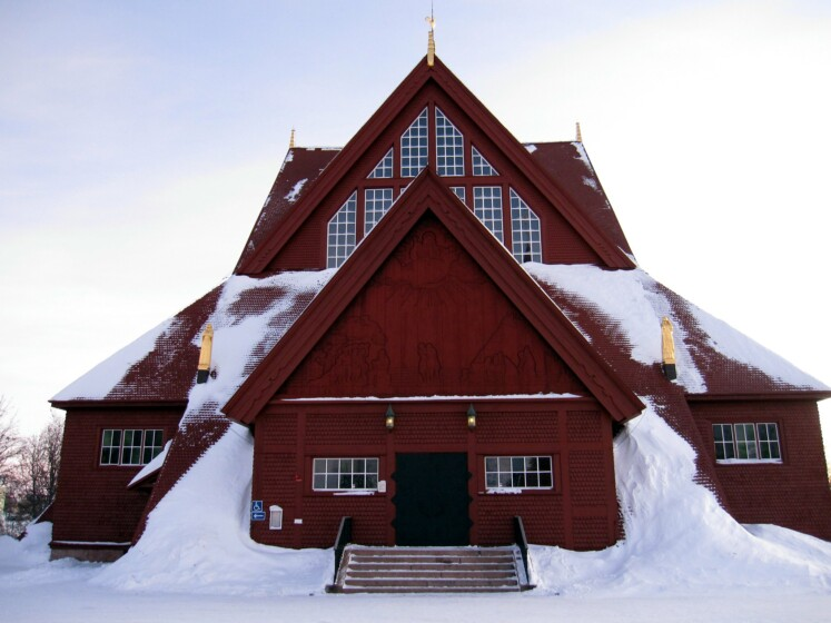 kiruna church exterior - (rinse)