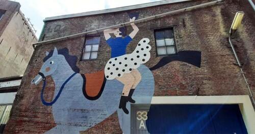 Blind Walls Gallery 14I lse Weisfelt Fietsen en Paarden © foto Wilma Lankhorst