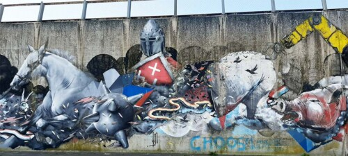 Blind Walls Gallery Combat Super Mural © foto Wilma Lankhorst