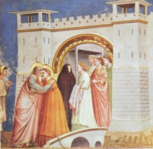 De kus Giotto - Scrovegni - -06- - Meeting at the Golden Gate, Public domain, via Wikimedia Commons CC0 1.0