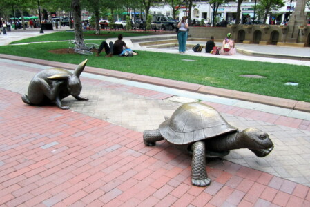 Flickr Wally Gobetz Boston - Copley Square The Tortoise and the Hare CC BY-NC-ND 2.0