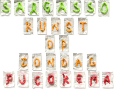 Navid Nuur Chewing gum alphabet - Sargasso